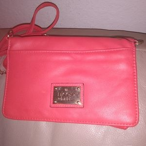 Hot pink Nicole Miller side bag